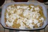 Gombás rakott káposzta - A sajtdarabok a rakott káposzta tetején.