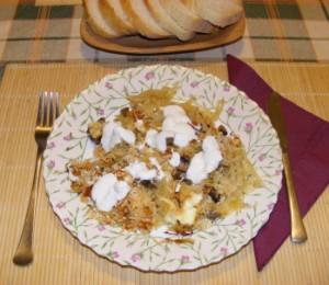 Gombás rakott káposzta - Kész, tányéron