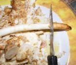 Zelleres zabpehelygolyó - Vágd le a petrezselyemgyökér vékonyabb végének utolsó 5 cm-ét!