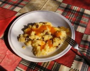Császármorzsa - Kész, tányérban.