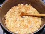 Krumplis tészta - Megpirult a kockatészta!