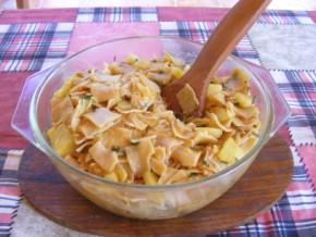 Krumplis tészta - Kész, tálban.