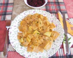 Krumplis tészta - Kész, tányérban