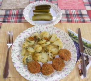 Petrezselymes újkrumpli - Kész, tányéron.
