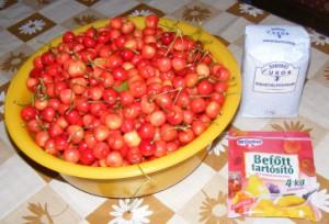 Cseresznyebefőtt - Hozzávalók