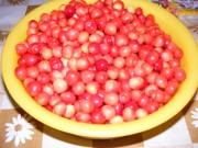 Cseresznyebefőtt - A megmosott, leszárazott cseresznyék.