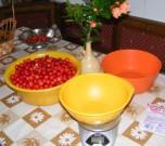 Cseresznyebefőtt - A cseresznye-mérés kellékei