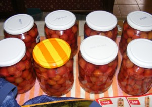 Cseresznyebefőtt - Kész, üvegekben.
