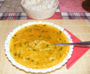 Zöldbableves - Kész, tányérban.