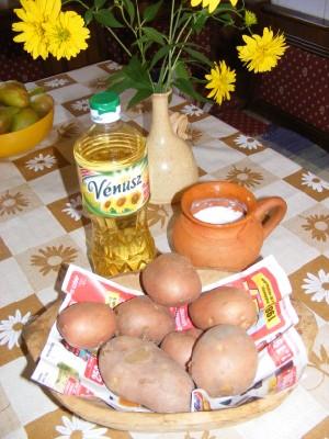 Sült krumpli - Hozzávalók