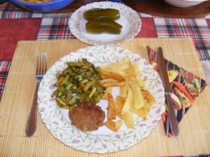 Sült krumpli - Kész, tányéron (2).
