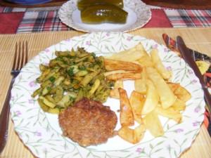 Párolt zöldbab - Kész, tányéron