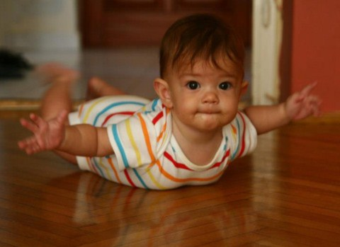 Magamról - Panni unokám fél éves.