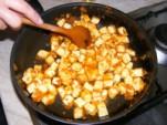 Tofus tortilla - Pirítsd meg a tofut!