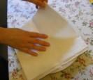 Tofus tortilla - Egy tányérra tégy 2 réteg konyhai törlőt, itatósnak!