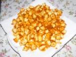Tofus tortilla - A megsült tofukockák a törlőpapíron