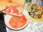Tofus tortilla - Most kapard a paprikához a paradicsomkockákat!