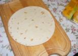 Tofus tortilla - Készíts ki egy tortilla-lapot!