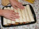 Tofus tortilla - Mind a 8 tekercs a tepsiben