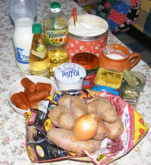 Savanyú krumplifőzelék - Hozzávalók