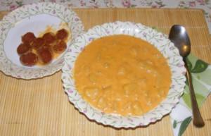 Savanyú krumplifőzelék - Kész, tányérban (2)