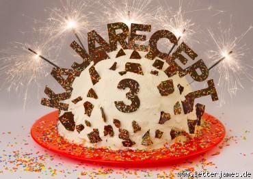 3 éves a honlap - torta