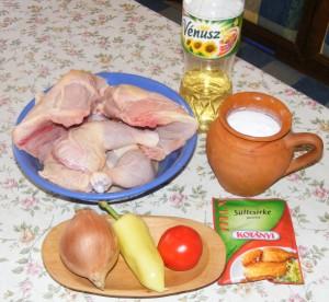 Csirkepörkölt - Hozzávalók