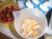 Gyümölcsös jégkrém - A narancs-cikkeket dobd a keverőedénybe!