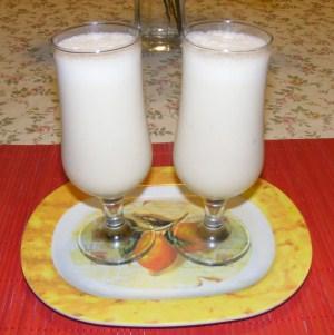 Őszibarack turmix - Kész, pohárban.