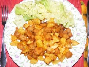 Szójabrassói - Kész, tányérban.