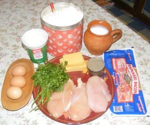 Csirkemelles-toltelek - Hozzávalók