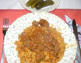 Marhapörkölt - Kész, tányérban (2)
