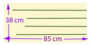 Piskótatorta eperrel - Egy 85 cm hosszú sütőpapír darabot vágj fel 5 db 7,5 cm széles csíkra!