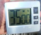 Piskótatorta eperrel - Sütési idő: 35 perc. (De inkább 40)
