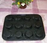 Epres krémtúró muffinformában - Fordítsd rá a muffinformát a vágódeszkára!