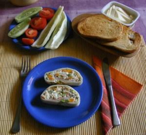Sajt-tekercs - Kész, tányéron