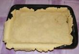 Quiche - francia pizza - Az elősütött tészta.