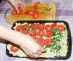 Quiche - francia pizza - Rendezd a paradicsomszeleteket a töltelékre!