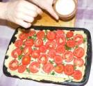 Quiche - francia pizza - Sózd meg a paradicsomszeleteket!