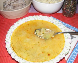 Karalábéleves - Kész, tányérban