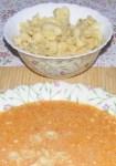 Levesbetét főzése - Paradicsomleves kismasni tésztával.