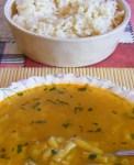Levesbetét főzése - Zöldbableves eperlevéllel.