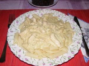 Gyömbéres csirke - Kész, tányéron.