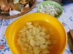 Slambuc - A krumpli előkészítve.