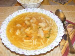 Karfiolleves - Kész, tányérban.