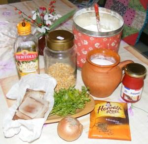 Sárgaborsó-főzelék - Hozzávalók