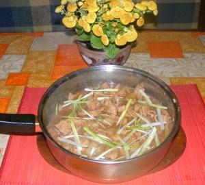 Kínai kaja - Kész, serpenyőben