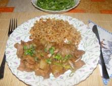 Kínai kaja - Kész, tányérban.