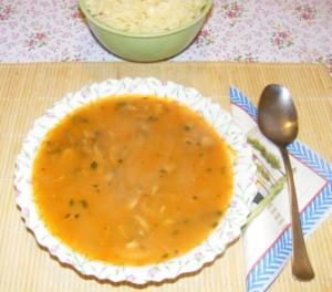 Gombaleves - Kész, tányérban.