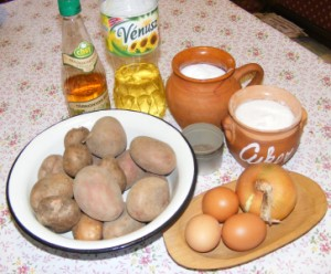 Krumplisaláta - Hozzávalók
